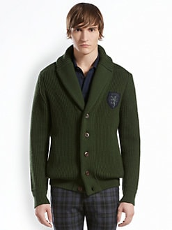Gucci - Wool Rib Shawl-Neck Cardigan