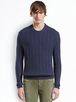 Gucci - Cable Knit Crew Sweater