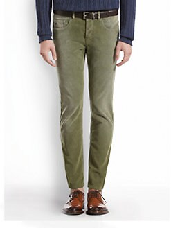 Gucci - Stone-Washed Stretch Velvet Corduroy Pants