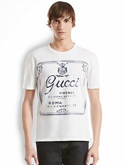 Gucci - Printed Cotton Jersey Tee