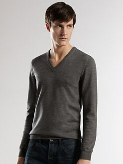 Gucci - Web Detail  V-Neck Sweater