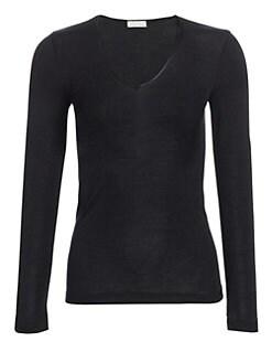 Hanro - Woolen Silk Long Sleeve Shirt <br>