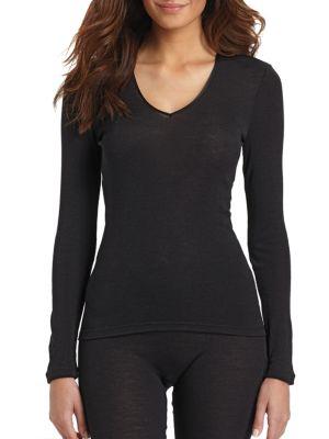 Woolen Silk Long-Sleeve Shirt