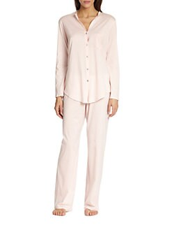 Hanro - Long Sleeve Button-Front Pajamas <br>