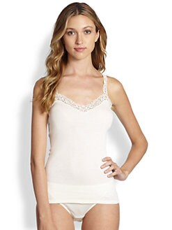 Hanro - Delicate Lace & Cotton Camisole
