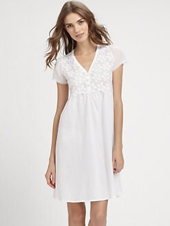 Hanro - Lily Short Sleeve Gown