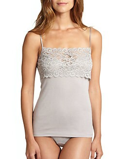 Hanro - Luxury Moments - Wide Lace Spaghetti Camisole