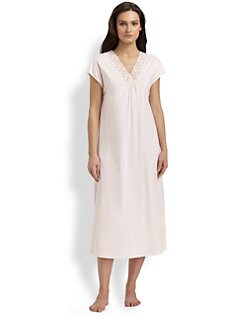 Hanro - Moments Cap-Sleeve Nightgown