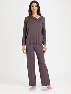 Hanro - Nora Asymmetrical Long-Sleeve Pajama Set