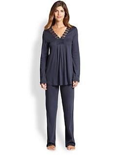 Hanro - Brooklyn Cotton Pajama Set <br>