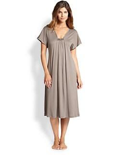 Hanro - Central Park Cotton &amp; Modal Short Gown <br>