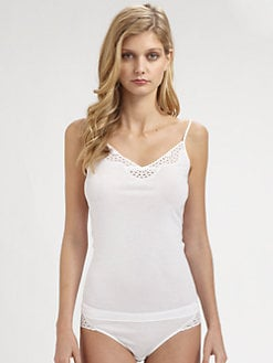 Hanro - Gwen Eyelet Cotton Camisole