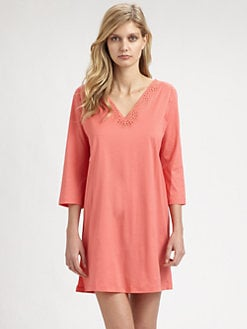 Hanro - Gwen Long-Sleeve Cotton Nightshirt