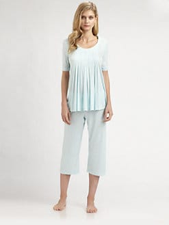 Hanro - Paula Short-Sleeve Cropped Pajama Set