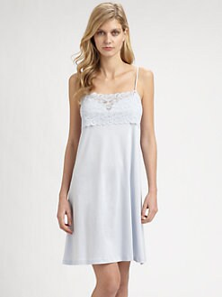 Hanro - Moments Lace & Cotton Chemise