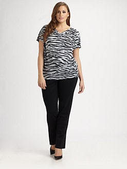 MICHAEL MICHAEL KORS, Salon Z - Printed Cowlneck Top
