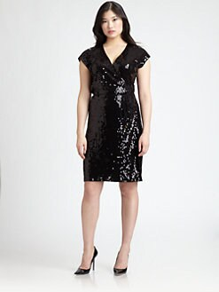 MICHAEL MICHAEL KORS, Salon Z - Sequin Wrap Dress