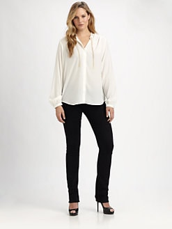 MICHAEL MICHAEL KORS, Salon Z - Chain-Accented Blouse