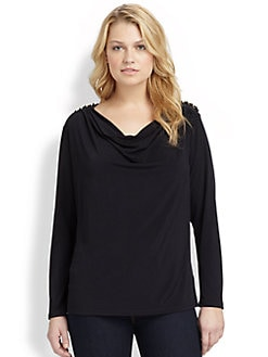 MICHAEL MICHAEL KORS, Salon Z - Jersey Chain-Shoulder Top
