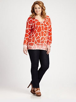 MICHAEL MICHAEL KORS, Salon Z - Giraffe Inside-Out Sweater