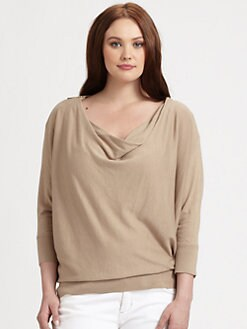 MICHAEL MICHAEL KORS, Salon Z - Cowlneck Zip-Shoulder Top