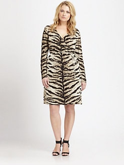 MICHAEL MICHAEL KORS, Salon Z - Animal-Print Wrap Dress