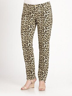 MICHAEL MICHAEL KORS, Salon Z - Savannah Leopard-Print Jeans