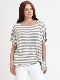 MICHAEL MICHAEL KORS, Salon Z - Striped Tie-Hem Top