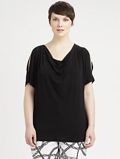 MICHAEL MICHAEL KORS, Salon Z - Cold-Shoulder Draped Top