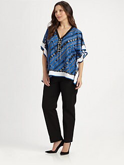 MICHAEL MICHAEL KORS, Salon Z - Glam Rock Lace-Up Top