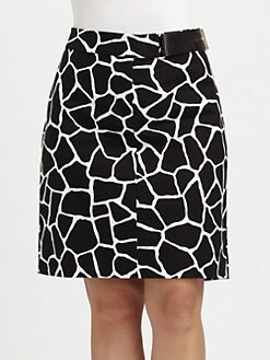 MICHAEL MICHAEL KORS, Salon Z - Printed Pencil Skirt