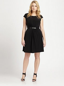 MICHAEL MICHAEL KORS, Salon Z - Pleat-Front Jersey Dress