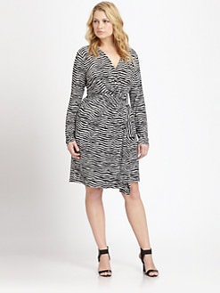 MICHAEL MICHAEL KORS, Salon Z - Zebra-Print Wrap Dress