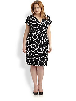 MICHAEL MICHAEL KORS, Salon Z - Giraffe Print Jersey Wrap Dress