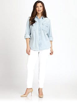 MICHAEL MICHAEL KORS, Salon Z - Cotton Denim Shirt