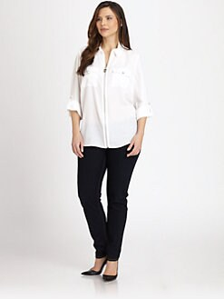MICHAEL MICHAEL KORS, Salon Z - Zip-Front Campshirt
