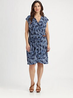 MICHAEL MICHAEL KORS, Salon Z - Printed Faux-Wrap Dress