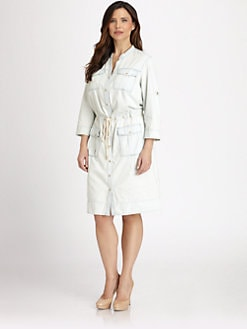 MICHAEL MICHAEL KORS, Salon Z - Lightweight Cotton Denim Dress