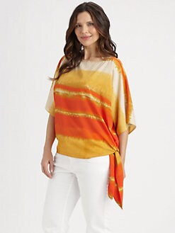 MICHAEL MICHAEL KORS, Salon Z - Boatneck Side-Tie Top