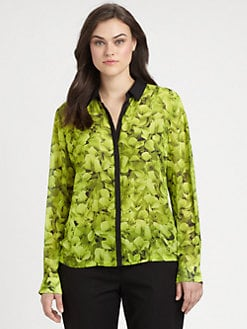 MICHAEL MICHAEL KORS, Salon Z - Scattered Hydrangea-Print Blouse
