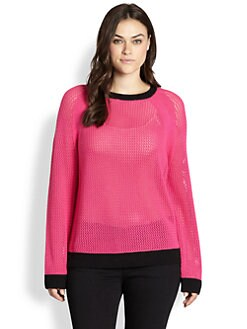 MICHAEL MICHAEL KORS, Salon Z - Colorblock Mesh Sweater