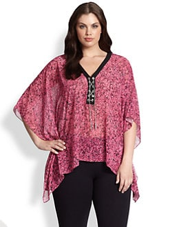 MICHAEL MICHAEL KORS, Salon Z - Lace-Up Poncho Tunic