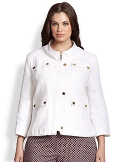 MICHAEL MICHAEL KORS, Salon Z - Linen Wide-Collar Jacket