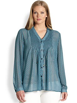 MICHAEL MICHAEL KORS, Salon Z - Abstract-Print Chiffon Blouse