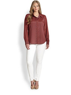 MICHAEL MICHAEL KORS, Salon Z - Abstract Diamond-Pebble Print Blouse