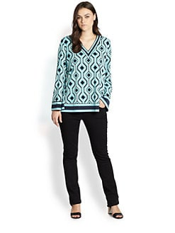 MICHAEL MICHAEL KORS, Salon Z - Argyle-Print V-Neck Tunic