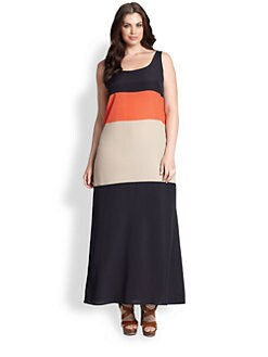 MICHAEL MICHAEL KORS, Salon Z - Colorblock Maxi Tank Dress