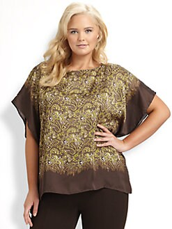 MICHAEL MICHAEL KORS, Salon Z - Paisley Flutter Top