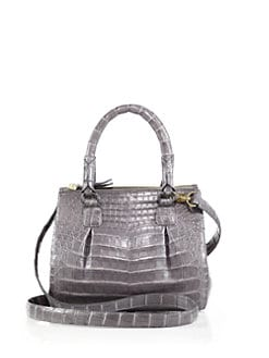 Nancy Gonzalez - Crocodile Zip Top-Handle Crossbody Bag