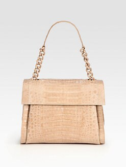 Nancy Gonzalez - Crocodile Flap Shoulder Bag